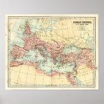 Mapa antiguo del imperio romano impresiones