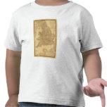 Mapa antiguo del inglés camisetas
