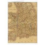 Mapa antiguo del inglés felicitaciones
