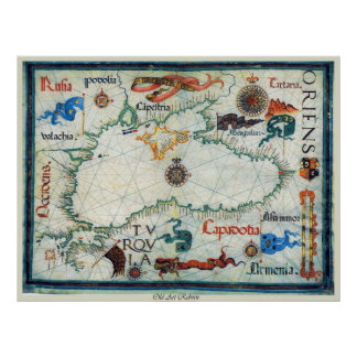 Mapa antiguo del Mar Negro Posters