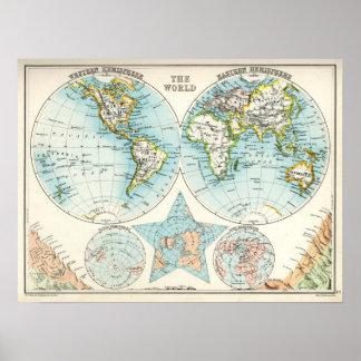 Mapa antiguo del mundo