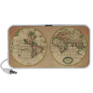 Mapa antiguo del mundo altavoz de viaje