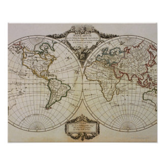 Mapa antiguo del mundo impresiones
