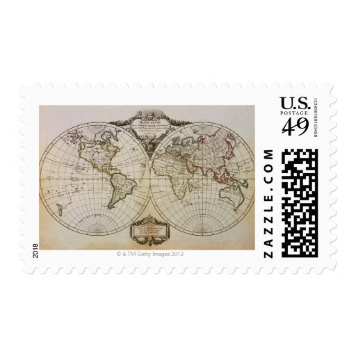 Mapa antiguo del mundo sello