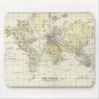 Mapa antiguo del mundo tapete de raton