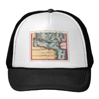 Mapa antiguo del Océano Atlántico Gorro