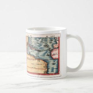 Mapa antiguo del Océano Atlántico Taza De Café
