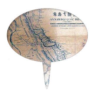 Mapa antiguo del vietnamita decoración de tarta