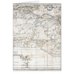 Mapa antiguo del vintage de la África del Norte 17 Tarjeta