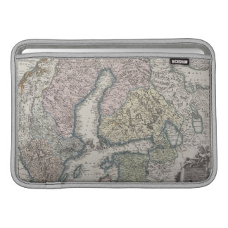 Mapa antiguo escandinavo funda  MacBook