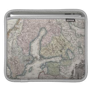 Mapa antiguo escandinavo fundas para iPads