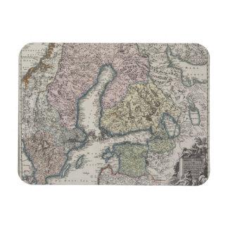 Mapa antiguo escandinavo imán flexible