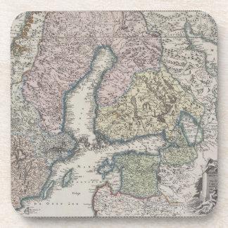 Mapa antiguo escandinavo posavaso