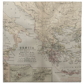mapa antiguo griego servilletas