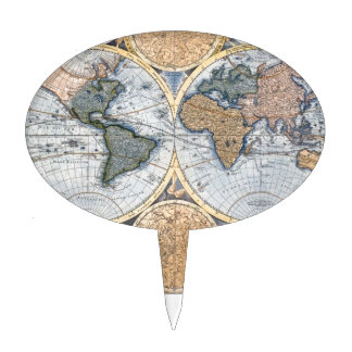 Mapa antiguo hermoso del atlas palillos de tarta