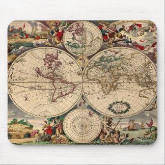 Mapa antiguo Mousepad de Justus Danckerts Alfombrillas De Raton