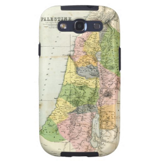 Mapa antiguo - Palestina bíblica Galaxy SIII Coberturas