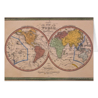 Mapa antiguo tarjetas