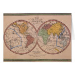 Mapa antiguo tarjeta de felicitación