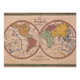 Mapa antiguo tarjetas postales