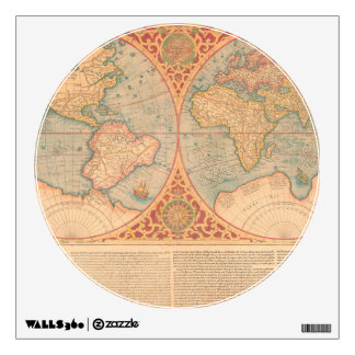 Mapa antiguo - Terrae Compendiosa Descritio de Vinilo Decorativo