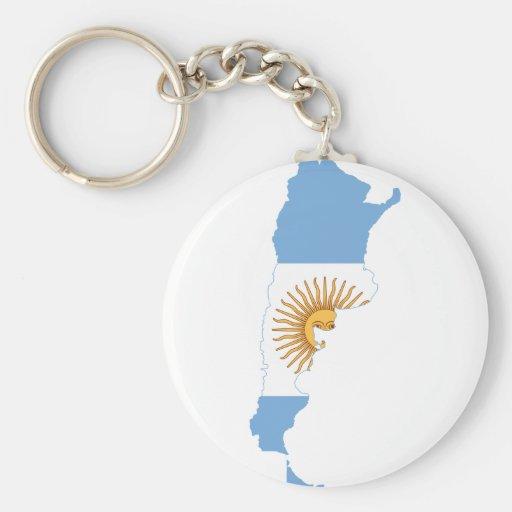 Mapa AR de la bandera de la Argentina Llavero Redondo Tipo Pin
