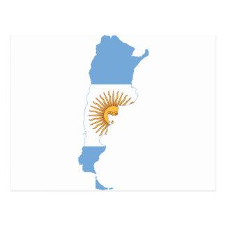 Mapa AR de la bandera de la Argentina Tarjeta Postal