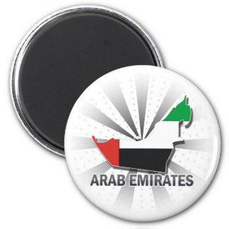 Mapa árabe 2,0 de la bandera de los emiratos imán redondo 5 cm