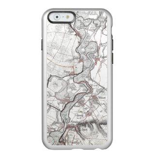 Mapa art2 del caso funda para iPhone 6 plus incipio feather shine