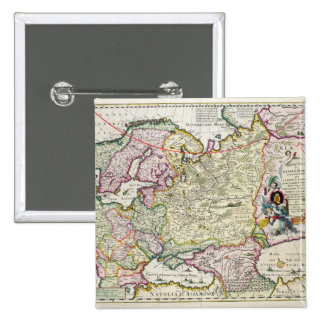 Mapa Asia Menor Pin Cuadrada 5 Cm