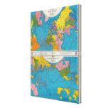 Mapa Atlántico, Eurasia, África, Océano Pacífico d Lona Envuelta Para Galerias