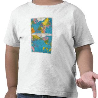 Mapa Atlántico, Eurasia, África, Océano Pacífico Camiseta
