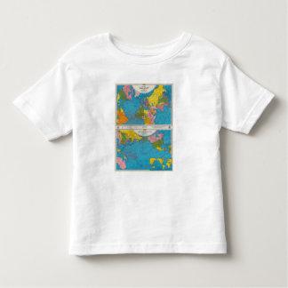 Mapa Atlántico, Eurasia, África, Océano Pacífico Playera De Bebé