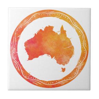 Mapa Australia Azulejo Cuadrado Pequeño
