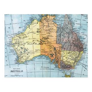 MAPA: AUSTRALIA, c1890 Postal