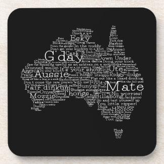 Mapa australiano del argot posavasos de bebidas