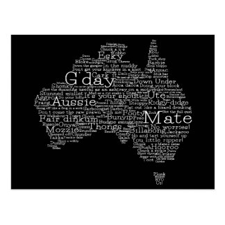 Mapa australiano del argot postales
