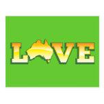 ¡Mapa australiano del corazón del amor de Australi