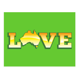 ¡Mapa australiano del corazón del amor de Australi Postal