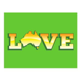 ¡Mapa australiano del corazón del amor de Postal
