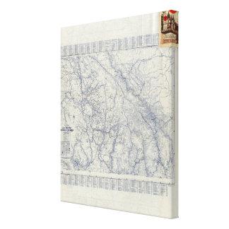 Mapa auto 2 de los rastros del funcionario 1925 de impresión de lienzo