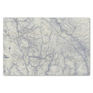 Mapa auto 2 de los rastros del funcionario 1925 de papel de seda pequeño
