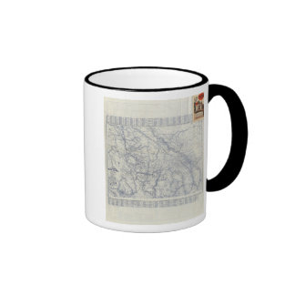 Mapa auto 2 de los rastros del funcionario 1925 de taza de café