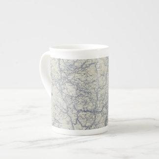 Mapa auto 2 de los rastros del funcionario 1925 de taza de porcelana
