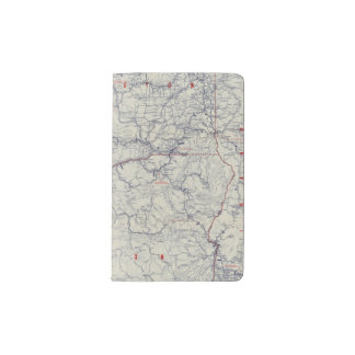 Mapa auto de los rastros del funcionario 1925 de funda para libreta y libreta pequeña moleskine