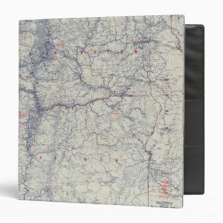 """Mapa auto de los rastros del funcionario 1925 de M Carpeta 1 1/2"""""""