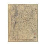 Mapa auto de los rastros del funcionario 1925 de M Impresiones En Madera