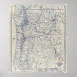 Mapa auto de los rastros del funcionario 1925 de M Poster