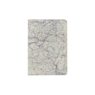 Mapa auto de los rastros del funcionario 1925 de porta pasaporte