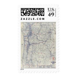 Mapa auto de los rastros del funcionario 1925 de sellos
